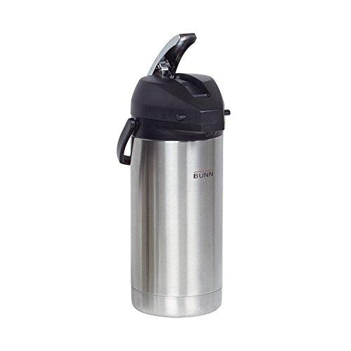 BUNN 36725.0000 3.8-Liter Lever-Action Airpot, Stainless Steel