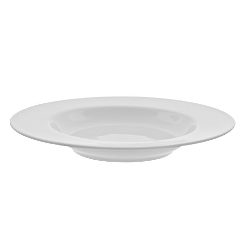 10 Strawberry Street Royal White 12″/14 Oz Rim Soup Bowl, Set of 6, White