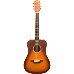Archer Two-Tone Baby Acoustic Guitar, Red