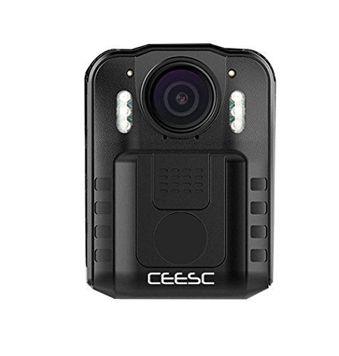 CEESC Body Worn Camera WN9 Night Vision Police Law Enforcement, 1080P 2 inch LCD Screen Sports Action Camera 120 Degree Wide Angle (16GB)