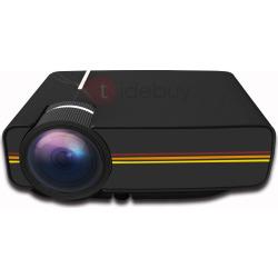 Mini Projector 1080P Support HDMI USB VGA AV SD for Home Theater(UK Plug)