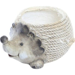 Hedgehog Rope Planter, Gray Shadow