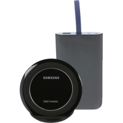 Samsung Qi Fast Charge Power Bundle Wireless Charging Stand w/ Portable battery – Black (Refurbished)