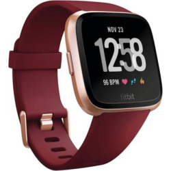 Fitbit Versa Smartwatch with Limited Edition Ruby Band, Red