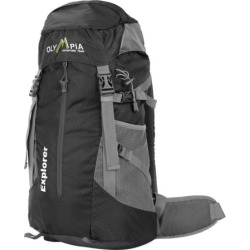 Olympia Explorer 20-in. Outdoor Backpack & Hideaway Rain Cover, Black