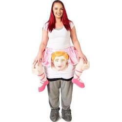 Adult Ride a Ballerina Costume, Adult Unisex, Multi-Colored