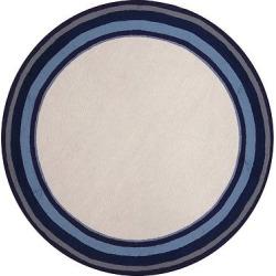 Newport Multi Border Marine Rug – Blue – (8′ Round) – Liora Manne