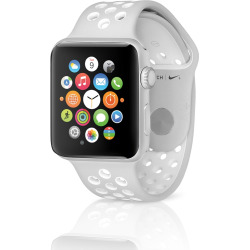 Apple Watch Series 3 Nike+ (GPS + 4G) 42mm Aluminum Silver Case & Flat Silver / White Sport Band (Refurbished)