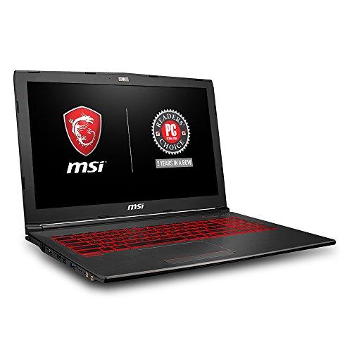 MSI GV62 8RD-200 15.6″ Full HD Performance Gaming Laptop PC i5-8300H, GTX 1050Ti 4G, 8GB RAM, 16GB Intel Optane Memory + 1TB HDD, Win 10 64 bit, Black, Steelseries Red Backlit  Keys