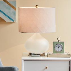 Urban Habitat Pomona Glass Table Lamp, White