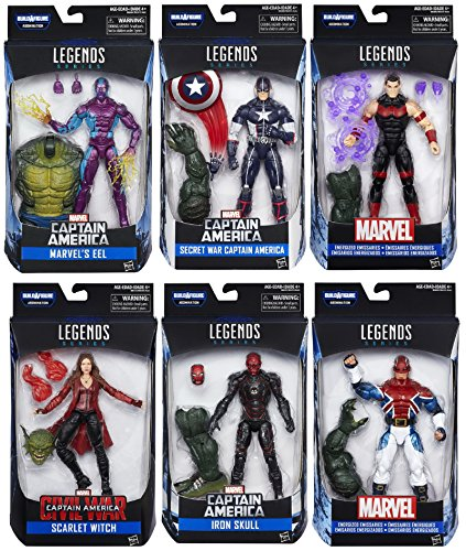 Captain America: Civil War Marvel Legends Wave 3 – Set of 6 with Build A Figure