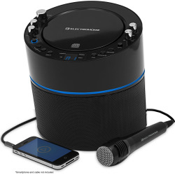 Electrohome Karaoke Machine Speaker System with CD+G Player & Smartphone Input