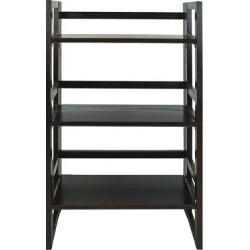 Folding Student Bookcase, Brown