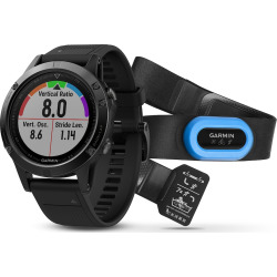 Garmin fenix 5 Sapphire Activity Tracker Performer Bundle, Black