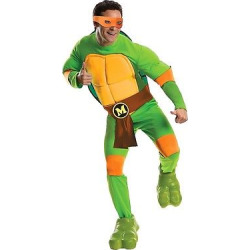 Teenage Mutant Ninja Turtles Men's Deluxe Michelangelo Costume