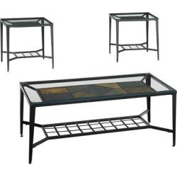 Calder Occasional Table Set Black (Set of 3) – Signature Design by Ashley, Black Universe