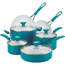 SilverStone 12-pc. Ceramic Nonstick Cookware Set, Blue
