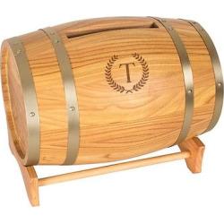 Wood Wine Barrel Card Holder – T
