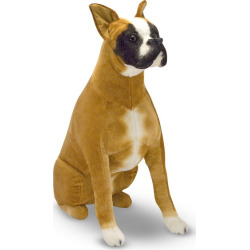 Melissa and Doug Plush Boxer Toy, Multicolor