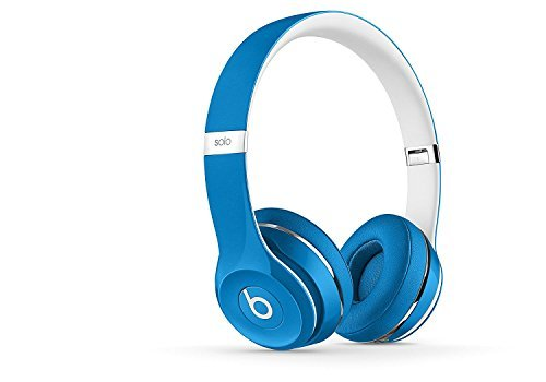 Beats Solo2 On-Ear Headphone Luxe Edition (WIRED, Not Wireless) (Certified Refurbished) – Blue