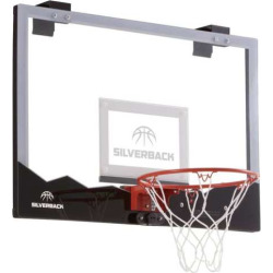Silverback 23-Inch LED Light-Up Over-the-Door Mini Basketball Hoop Set, Multicolor