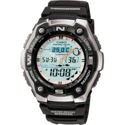 Casio Men's Sports Gear Analog & Digital Chronograph Fishing Watch – AQW101-1A, Black