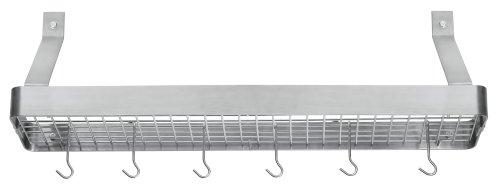Cuisinart CRBS-36B Chef's Classic 36-Inch Rectangular Wall-Mount Bookshelf Rack, Brushed Stainless