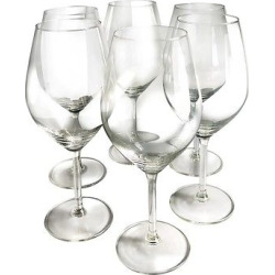 Epicureanist Illuminati White Wine Glasses (Set of 6), Clear