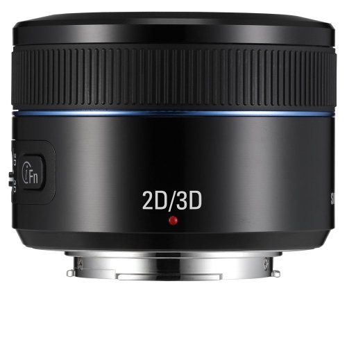Samsung NX 45mm f/1.8  2D/3D Camera Lens (Black)