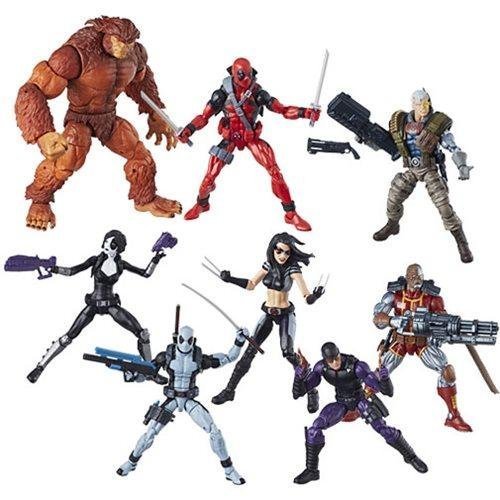 Deadpool Marvel Legends Wave 1 Set of 7 (Sasquatch BAF)