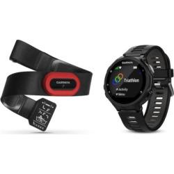 Garmin Forerunner 735XT GPS Running Watch Run Bundle, Black