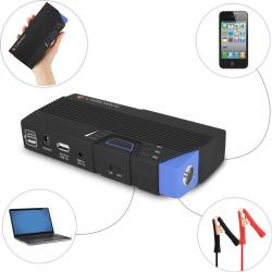 Portable 12 Volt Car Jump-Starter / Multifunction Power Bank Charging Kit – 13800mAh