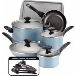 Farberware 15-pc. Nonstick Aluminum Cookware Set, Blue