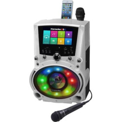Karaoke USA All-In-One Wi-Fi Multimedia Karaoke System with Bluetooth, Multicolor
