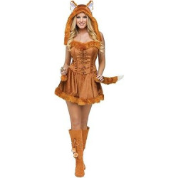 Women's Fox Costume – One Size Fits Most, Brown