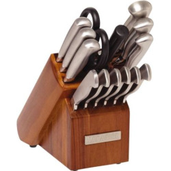 Sabatier 15-pc. Stainless Steel Knife Block Set, Silver