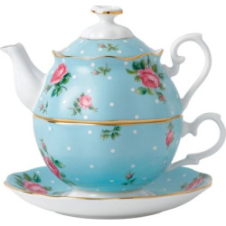 Royal Albert Tea for One 3-pc. Tea Set, Blue