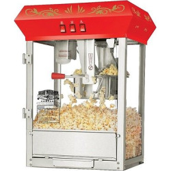 Great Northern Popcorn Red Countertop Foundation Popcorn Popper Machine, 8oz