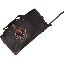 Boston College Eagles 27-Inch Rolling Duffel Bag, Black