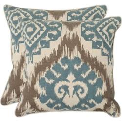 Blue Set Powder Throw Pillow (22″x22″) – Safavieh, Powder Blue