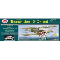 Guillow's Thomas Morse Scout Laser Cut Model Airplane Kit, Multicolor
