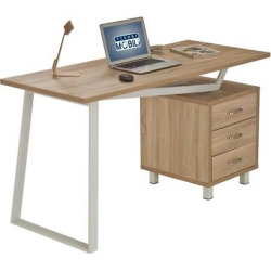 Modern Design Computer Desk with Storage – Sand – Techni Mobili, Sand Stone
