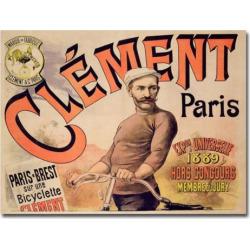Clement Bicycles, 1889 26 x 32 Canvas Art, Multicolor