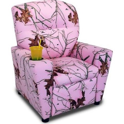 Kids Recliner With Cup Holder – Lifestyle Pink – Mossy Oak Nativ Living