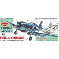 Guillow's 1:16 Vought F4U-4 Corsair Model Kit, Multicolor