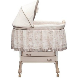 Delta Children Play Time Rocking Bassinet – Jungle, Beige/White
