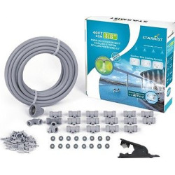 1/4 Push – In Mist Cooling Kit, 20′ With Hose Cutter – Gray – Sunneday