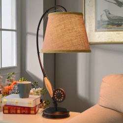 Fly Rod Table Lamp, Brown