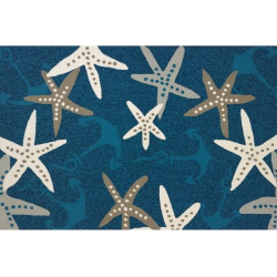United Weavers Atrium Anchors Away Nautical Rug, Blue