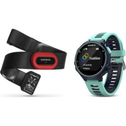Garmin Forerunner 735XT GPS Running Watch Run Bundle, Blue